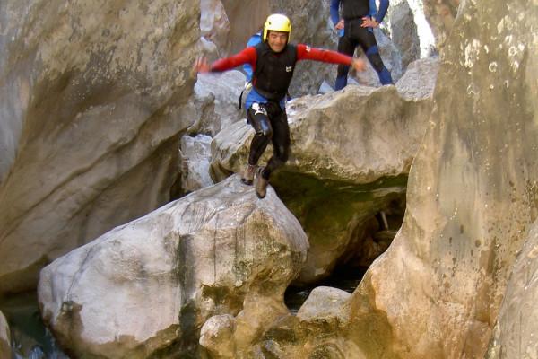 canyon et sauts en groupe pour séjour collectivité