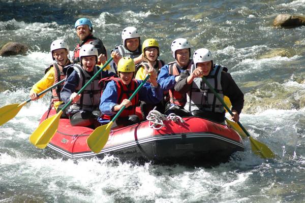 rafting séjour de groupe montagne pyrénées