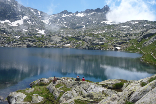 Feu lac bivouac Pyrénées