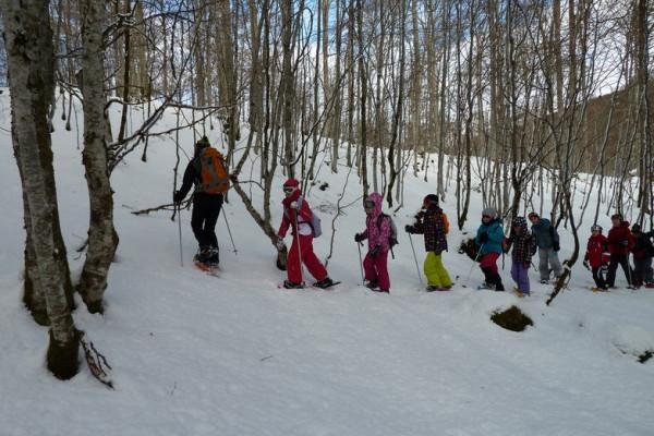 igloo trappeurs lors des classes de neige dans les