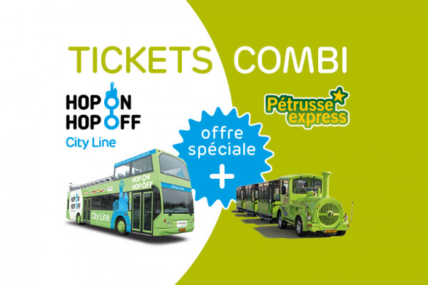 Hop On Hop Off City Line & Pétrusse Express Ticket Combi