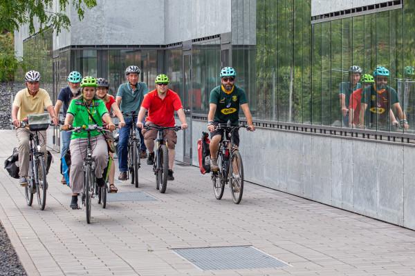 Stadtführung mit dem Fahrrad in Essen