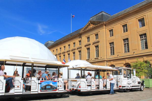 Touristic train in Metz (France)