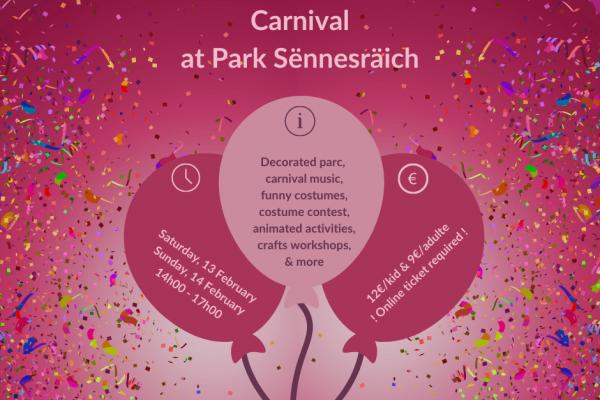 Ticket: Carnival at Park Sënnesräich
