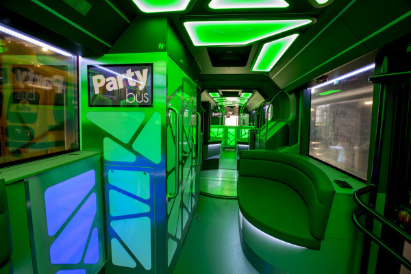 LED-Beleuchtung im Party-bus