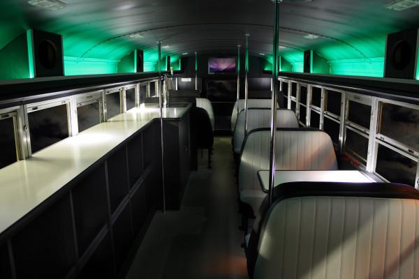 Innenansicht des Cool Bus