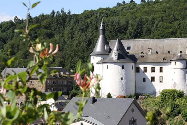 Clervaux castle at sunshine