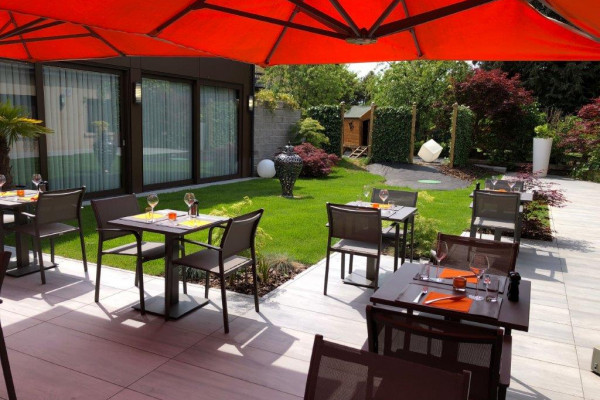 Terrace of the Hotel Melia in Luxembourg
