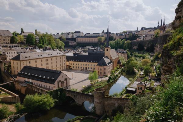 Bird's eye view of Luxembourg City