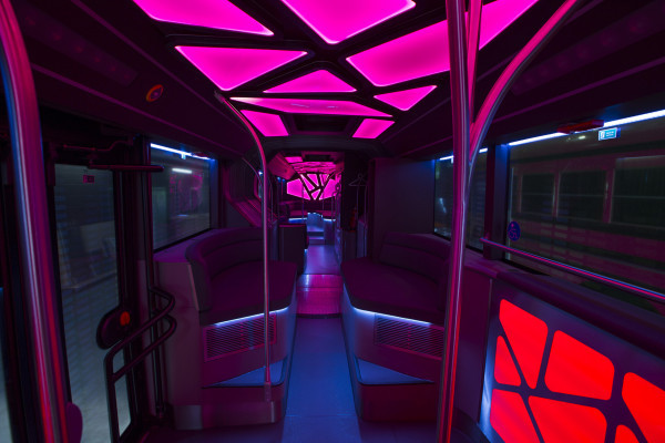 Disco atmosphere in the Party-bus