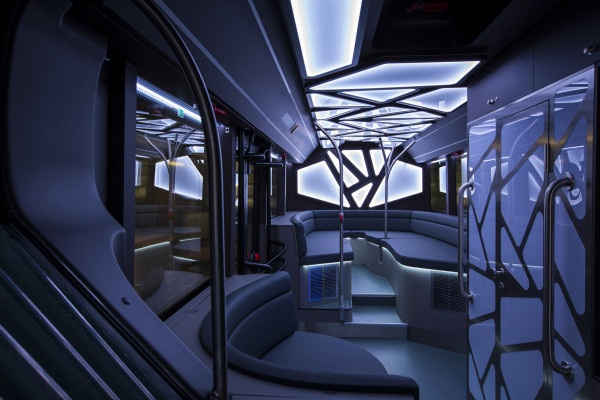 Party-bus lounge area