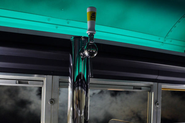 Beer tap in the Cool Bus