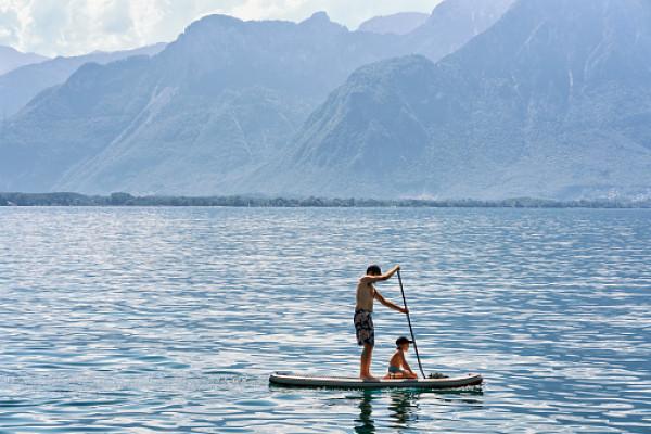 Stand up paddle sur le lac de Sallent