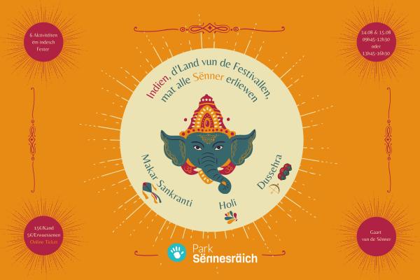 Ticket: Fêtes indiennes au jardin des sens