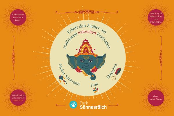 Ticket: Indesch Festivallen am Gaart vun de Sënner