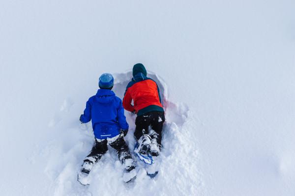 Vacances en famille à la neige