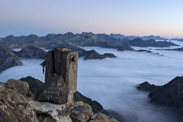 mer de nuages dans les Pyrénées