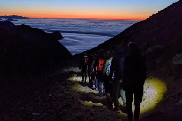 randonnée de nuit en famille