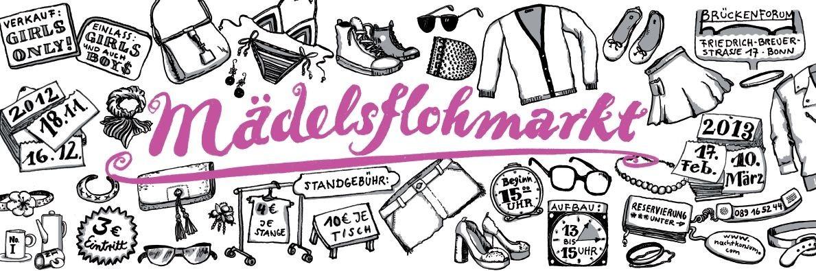 Mädelsflohmarkt Bonn - Verkaufsstand für den 17.02.2012 online buchen