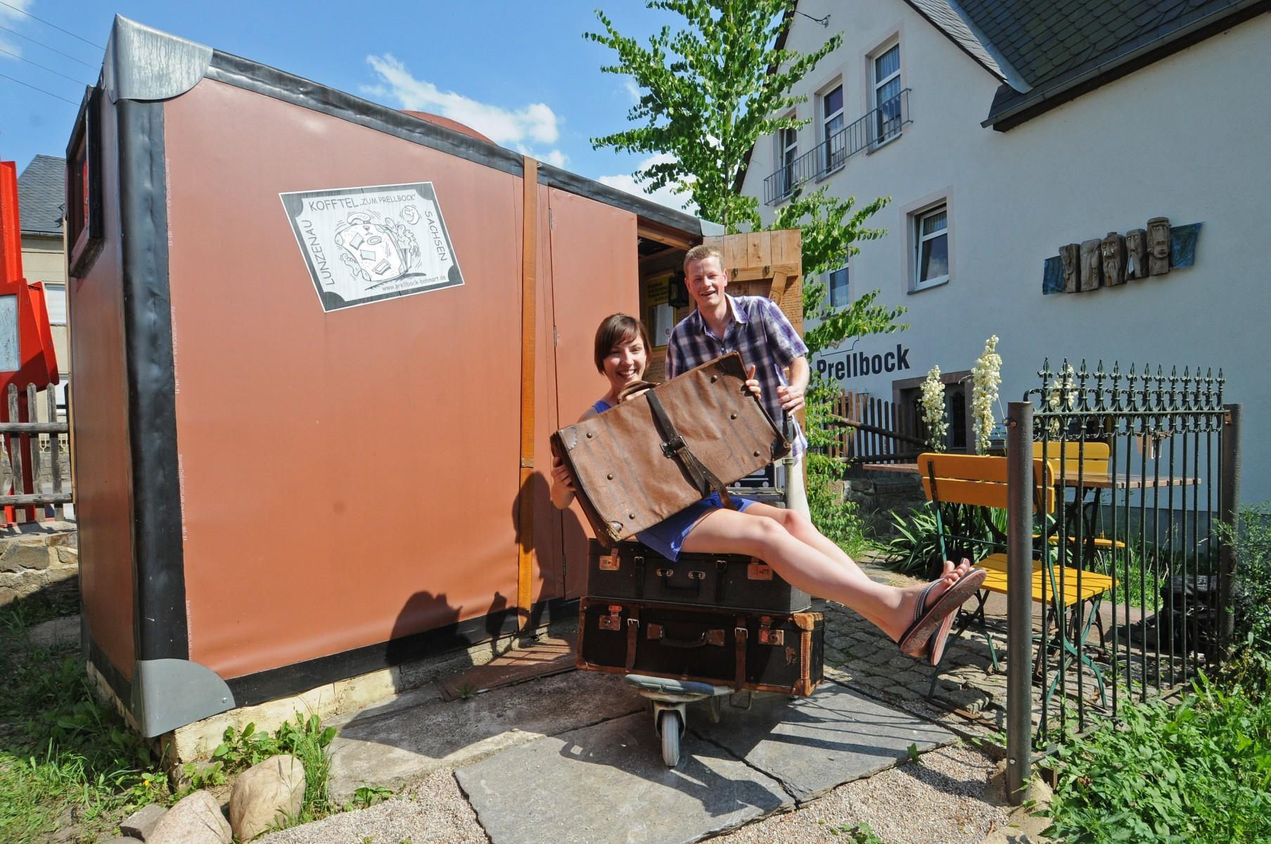 Kofferhotel in Lunzenau - Übernachtung im Koffer