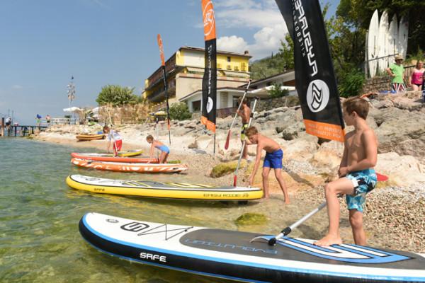 Stand up paddeling Lago di Garda