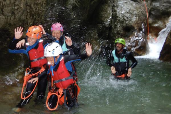 family canyoning Lago di Garda con  LOLgarda