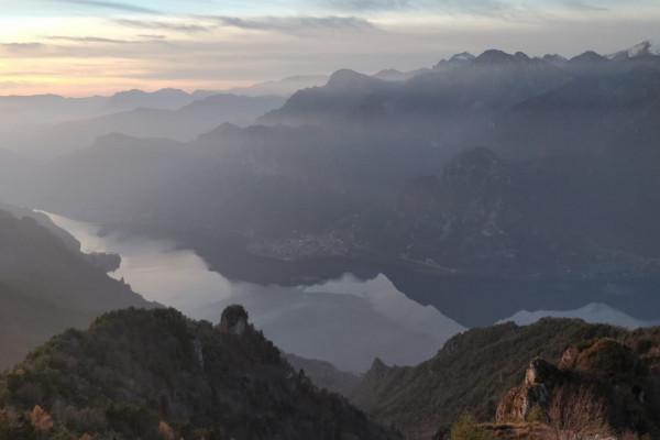 vista Lago d'ideo dal Monte Stino