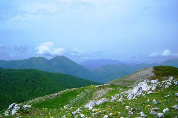 Sulla vetta del Monte Rajamagra