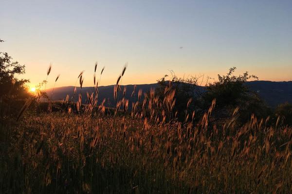 Uno dei tramonti più belli dell'Etna