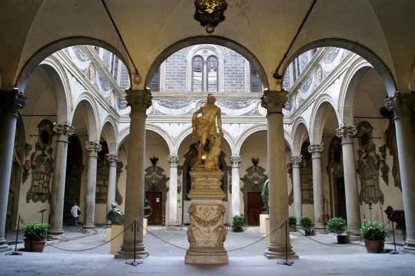 El patio interno del Palacio.