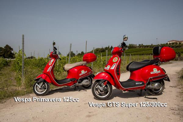 Vespa Primavera 125cc and Vespa GTS Super 125cc/300cc scooter for rent Riva del Garda