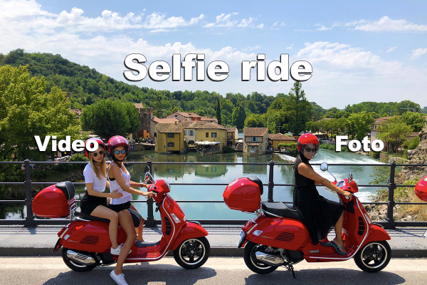 Selfie ride Vespa scooter tour.
