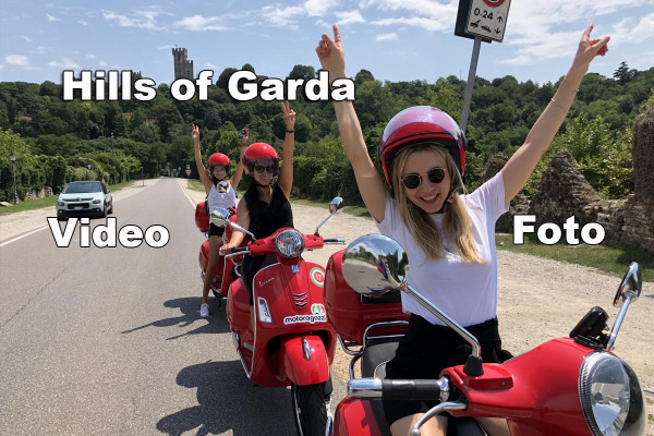 Hills of Garda Vespa scooter tour.