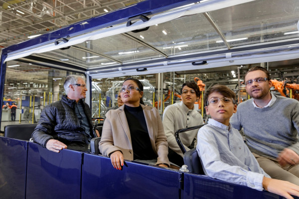 On guided tour in the Volvo plant in Torslanda, Gothenburg.