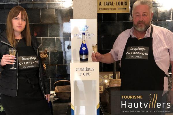 Florent & Clara of Champagne Laval-Louis