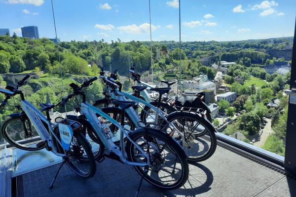 Panoramic elevator Luxembourg City - E-Bike Sightseeing.lu