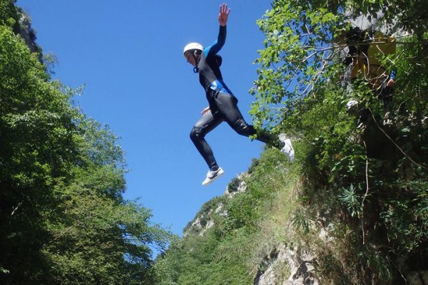 Fun Trip - a jump in the Gorges du Loup