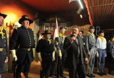 Tribute-Veranstaltung 2015: Auch die 2nd U.S.-Cavalry von Western-City war mit dabei um Western City Dasing
