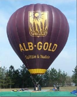 Ballonfahrt bei Ulm - Heißluftballonerlebnis