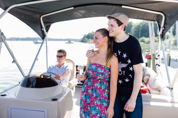 Candle-Light-Cruise private Bootstour auf Elektroboot