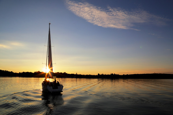 Sunset-Sailing am Chiemsee | Segeln in den Sonnenuntergang