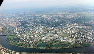 Rundflug über Regensburg