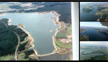 Rundflug über die Fränkische Seenplatte ab Greding