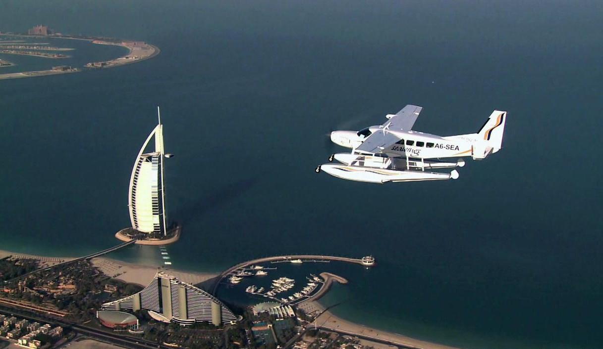 Großer Rundflug mit dem Wasserflugzeug über Dubai