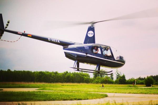 Geschenkgutschein: Hubschrauber-Rundflug 20 Minuten