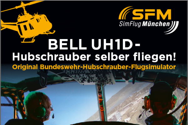 Flug Bell UH-1D Huey  60 Minuten
