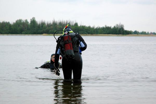 Beim Weg ins Wasser