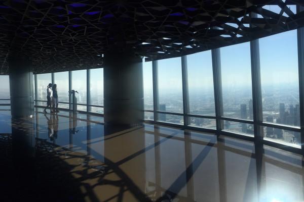 Erleben Sie eine tolle Aussicht vom Burj Kahlifa.