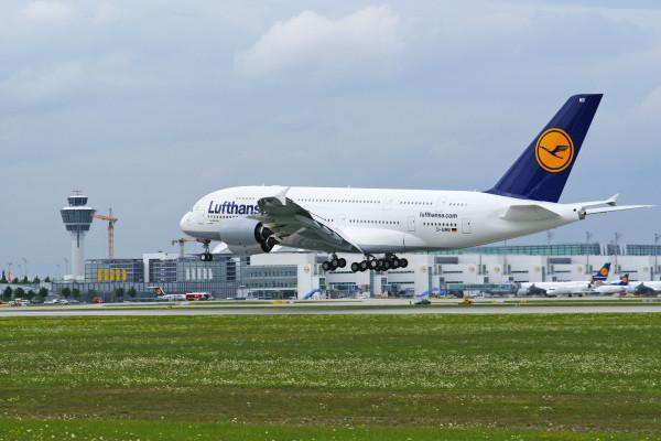 Der A380 in München