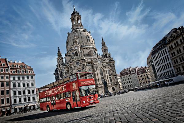 live moderierte Stadtrundfahrt in Dresden